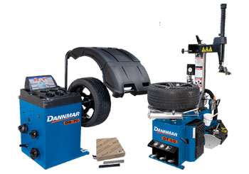 Dannmar DT-50 Swing Arm Tire Changer & DB-70 Automatic Wheel Balancer Combo