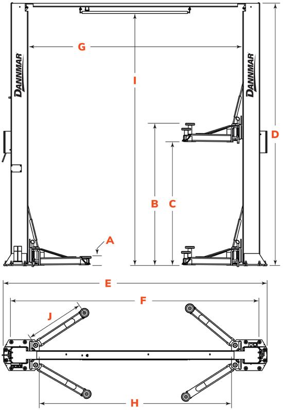 Dannmar D2-10A-Specs-Diagram