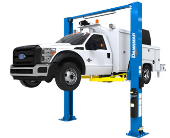 Dannmar D2-15C Symmetric 2-Post Lift 15,000 lbs w/Triple-Telescoping Arms