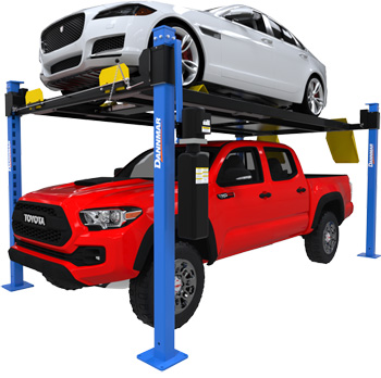 Dannmar D4-9X 4 Post 9,000 lbs ALI Ex-Length Lift Package