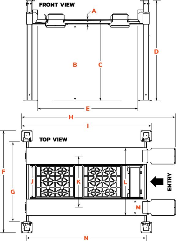 Dannmar D4-12 Specs Diagram