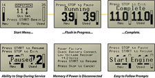 Flo-Dynamics 735 Series Control Panel Menus
