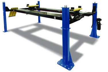 "Hofmann EELR707A 14K 205"" Wheelbase 4 Post Alignment Lift w/7K Rolling Jacks, Lights, & Locking Kit"