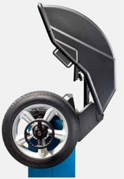 Hofmann Geodyna 7600l Space-Saving Wheel Guard