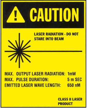 Hofmann Geodyna 9300 caution laser radiation
