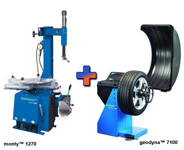 Hofmann EEWH764AU1 monty™ 1270 Swing-Arm Tire changer & EEWB761AE1 geodyna™ 7100 Wheel Balancer