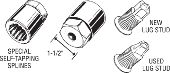 30165 Dual Wheel Lug Stud Remover Diagram