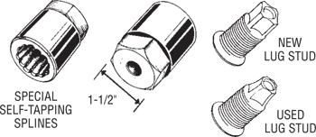 30165 Dual Wheel Lug Stud Remover Diagram