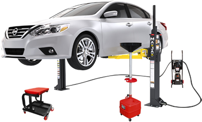 MaxJax® M6K ALI Certified Portable Two Post Garage Lift Deluxe Package - 5175335