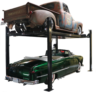Nationwide NW-4-8KPlus Extra Tall Car Storage Lift 8K lb | 4 Post Parking Lift