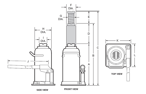 diagram of a Norco bottle jack