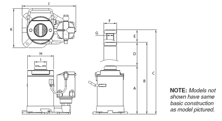 diagram of a Norco hydraulic bottle jack