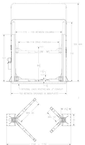 PKS Lifts PK 20 specs diagram
