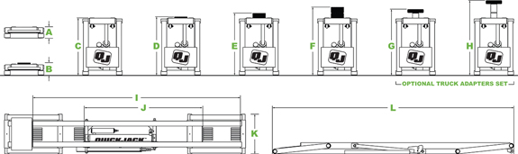 QuickJack specifications diagram layout