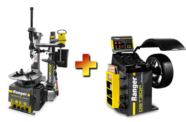 Ranger R76ATR NextGen™ Tilt-Back Tire Changer w/Assist Tower & DST30P Wheel Balancer w/36mm Shaft Combo