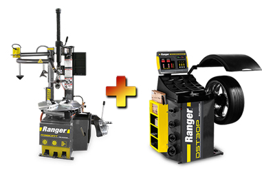 Ranger R980AT NextGen™ RimGuard™ Tire Changer & DST30P Wheel Balancer w/36mm Shaft Combo