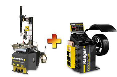 Ranger R980XR NEXTGEN™ Swing-Arm Tire Changer & DST30P Wheel Balancer w/36mm Shaft Combo