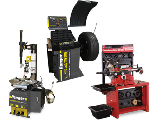 "Ranger R980XR NEXTGEN™ Swing-Arm 25"" Tire Changer, LS43B 3D Quick-Touch™ Laser-Spot™ Wheel Balancer w/36 mm Shaft & RL-8500 Combination Brake Lathe w/Bench & Std Tooling Combo"
