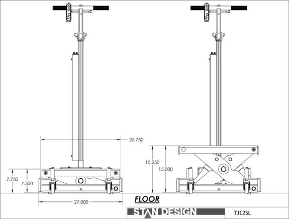 ScorpionTJ12SL Specifications Diagram
