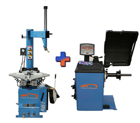 Talyn Plus 1 Tire Changer w/Adjustable Clamps & CB-67 Highly Accurate Wheel Balancer w/European Design Combo