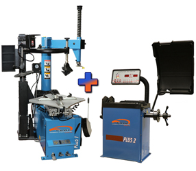 Talyn Plus 1 Tire Changer w/Adjustable Clamps & PL330 Assist Arm & Plus 2 Wheel Balancer Combo