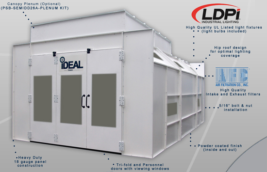 Ideal Psb Semidd26asy Ak Paint Booth W Semi Downdraft Airflow