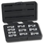 "KD Tools 3/8"" Drive 10 Piece Metric 6 Point Flex Socket Set KDT80565"