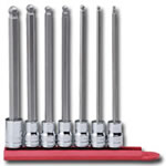 "KD Tools 7 Piece 3/8"" Drive SAE Long Ball Hex Bit Socket Set KDT80574"