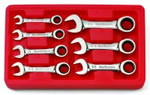 KD Tools 7 Piece SAE Stubby Combination GearWrench Set KDT9507
