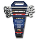 KD Tools 4 Piece Metric Reversible GearWrench Completer Set KDT9601