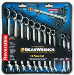 KD Tools 12 Piece Metric Offset Reversible GearWrench Set KDT9620