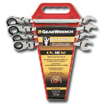 KD Tools 4 Piece SAE Flex Head GearWrench Completer Set KDT9703
