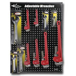 K Tool International Adjustable and Pipe Wrench Display Board KTI0817