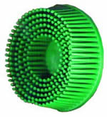"3M 3"" Scotch-Brite™ Roloc™ Bristle Discs 50 Grit Coarse Green MMM7526"