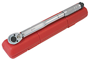 "Sunex Tools 3/8"" Drive 10-80 ft/lbs Torque Wrench with Case SUN9702A"
