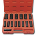 "Sunex 15 Piece 1/2"" Drive 12 Point Deep SAE Impact Socket Set SUN2670"