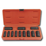 "Sunex Tools 12 Piece 3/8"" Drive 12 Point SAE Deep Impact Socket Set SUN3680"