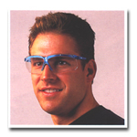 Uvex Genesis Glasses Blue Frame Clear Lens with Fog Coating UVXS3240X