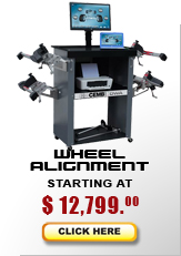 Wheel alignment systems starting at $11,625...