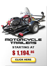 motorcycle trailers start at $1,832.95